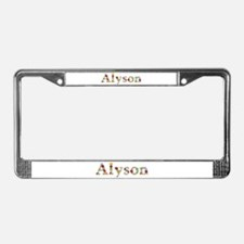 Alyson Bright Flowers License Plate Frame