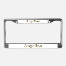 Angelina Bright Flowers License Plate Frame