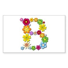 B Bright Flowers Rectangle Decal