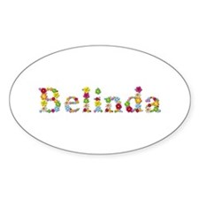 Belinda Bright Flowers Oval Decal