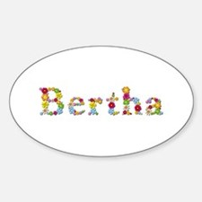 Bertha Bright Flowers Oval Decal