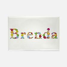 Brenda Bright Flowers Rectangle Magnet