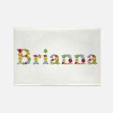 Brianna Bright Flowers Rectangle Magnet