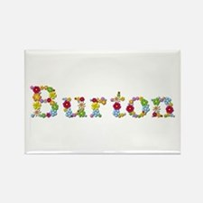 Burton Bright Flowers Rectangle Magnet