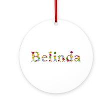 Belinda Bright Flowers Round Ornament