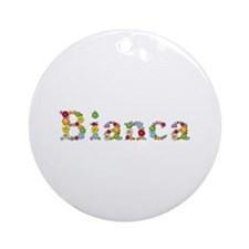 Bianca Bright Flowers Round Ornament