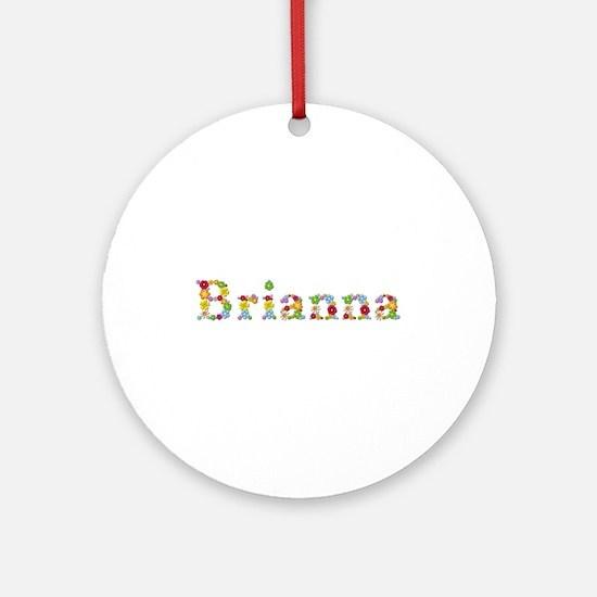 Brianna Bright Flowers Round Ornament