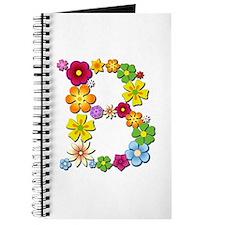 B Bright Flowers Journal