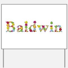 Baldwin Bright Flowers Yard Sign