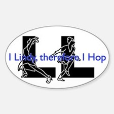 LL-I Lindy, therefore I Hop-LindyDance Stickers