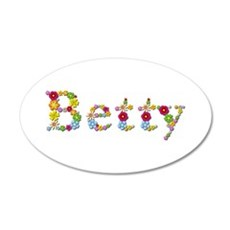 Betty Bright Flowers Wall Decal