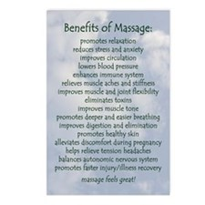 Benefits Of Massage Postcards (Package Of 8)