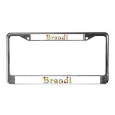 Brandi Bright Flowers License Plate Frame