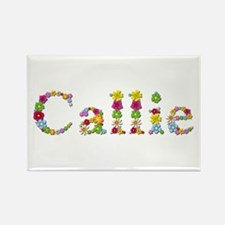 Callie Bright Flowers Rectangle Magnet