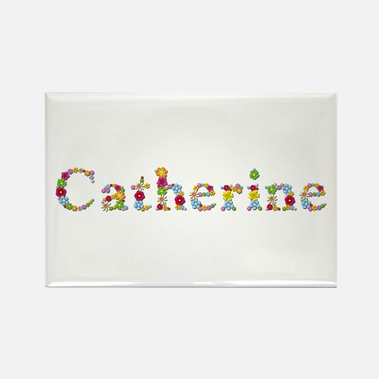 Catherine Bright Flowers Rectangle Magnet