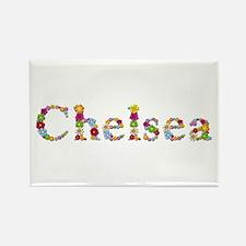 Chelsea Bright Flowers Rectangle Magnet