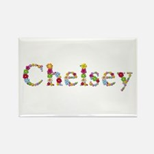 Chelsey Bright Flowers Rectangle Magnet