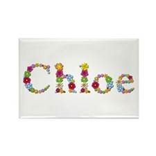 Chloe Bright Flowers Rectangle Magnet