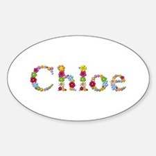 Chloe Bright Flowers Oval Decal