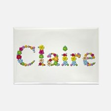 Claire Bright Flowers Rectangle Magnet