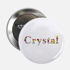 Crystal Bright Flowers Button