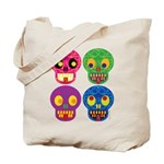 Colored skull Tote Bag