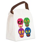 Colored skull Canvas Lunch Bag