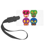 Colored skull Large Luggage Tag
