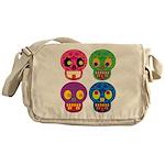 Colored skull Messenger Bag