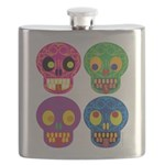 Colored skull Flask