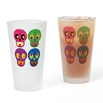 Colored skull Drinking Glass