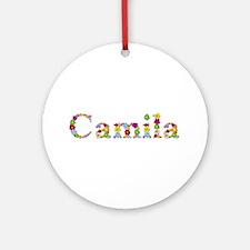 Camila Bright Flowers Round Ornament