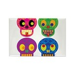 Colored skull Magnets