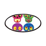 Colored skull Patches