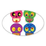 Colored skull Sticker