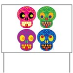 Colored skull Yard Sign