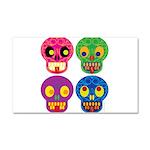 Colored skull Car Magnet 20 x 12