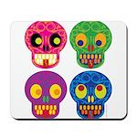 Colored skull Mousepad