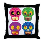 Colored skull Throw Pillow