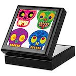 Colored skull Keepsake Box