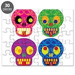 Colored skull Puzzle
