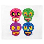 Colored skull King Duvet