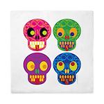 Colored skull Queen Duvet