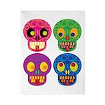 Colored skull Twin Duvet