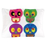 Colored skull Pillow Case