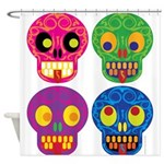 Colored skull Shower Curtain