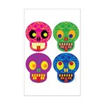 Colored skull Poster Print