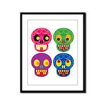 Colored skull Framed Panel Print