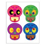 Colored skull Small Poster