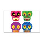 Colored skull Decal Wall Sticker